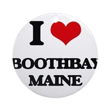 I love Boothbay Maine Ornament (Round)