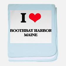 I love Boothbay Harbor Maine baby blanket