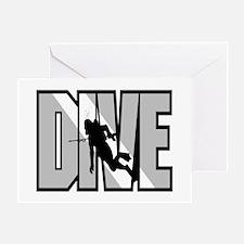 Grey Dive Logo Greeting Card