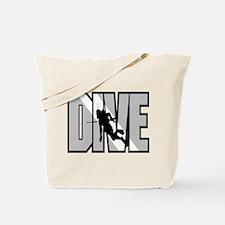 Grey Dive Logo Tote Bag