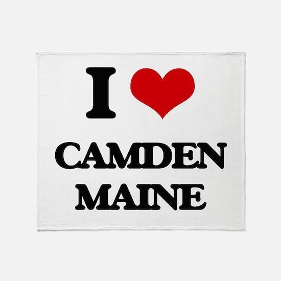 I love Camden Maine Throw Blanket