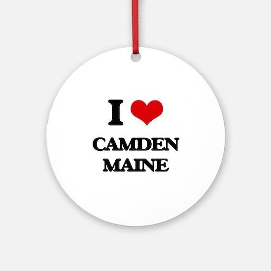 I love Camden Maine Ornament (Round)