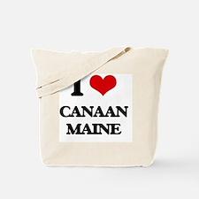 I love Canaan Maine Tote Bag
