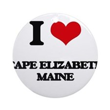 I love Cape Elizabeth Maine Ornament (Round)