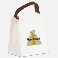 Mayan Ruins Canvas Lunch Bag