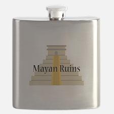 Mayan Ruins Flask