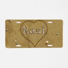 Raul Beach Love Aluminum License Plate