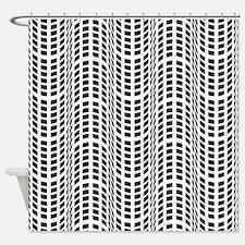 Black & White OpArt - Endless Flow Shower Curtain