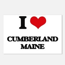 I love Cumberland Maine Postcards (Package of 8)