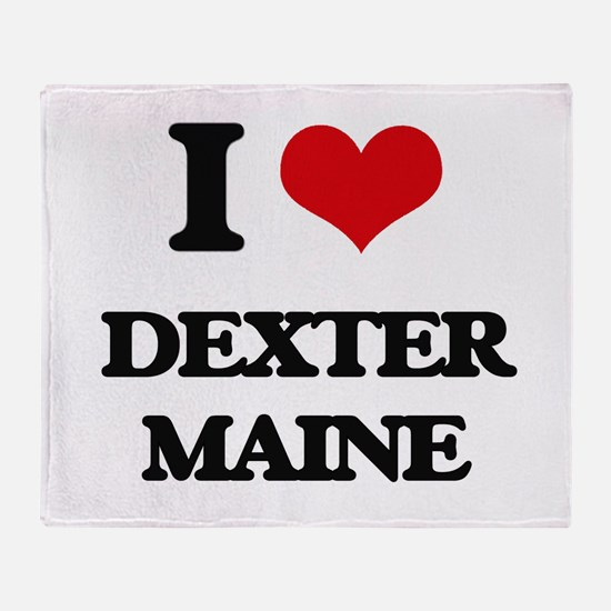 I love Dexter Maine Throw Blanket