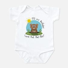 Jorge birthday (groundhog) Infant Bodysuit