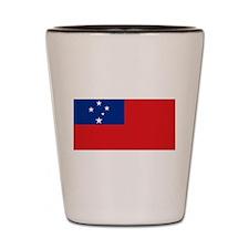 Samoan flag Shot Glass