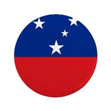 "Samoan flag 3.5"" Button"