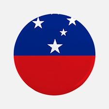 """Samoan flag 3.5"""" Button"""