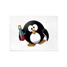 Drunk Penguin 5'x7'Area Rug