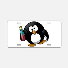 Drunk Penguin Aluminum License Plate