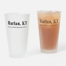 Harlan, KY Drinking Glass