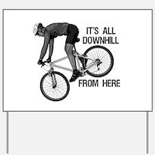 Downhill Mountain Biker Yard Sign
