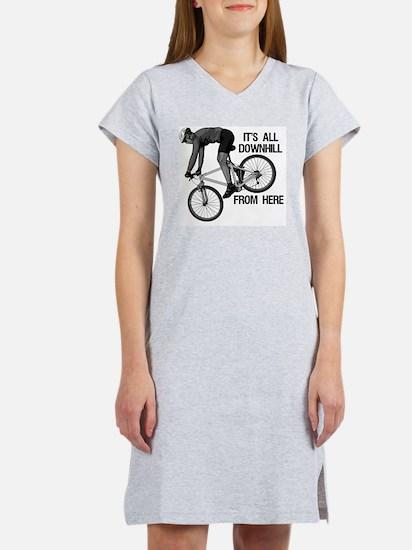 Downhill Mountain Biker Women's Nightshirt