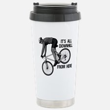 Downhill Mountain Biker Stainless Steel Travel Mug