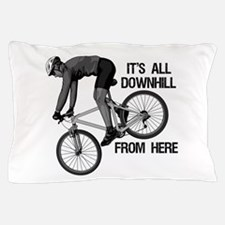 Downhill Mountain Biker Pillow Case