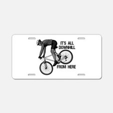 Downhill Mountain Biker Aluminum License Plate