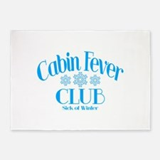 Cabin Fever Club 5'x7'Area Rug