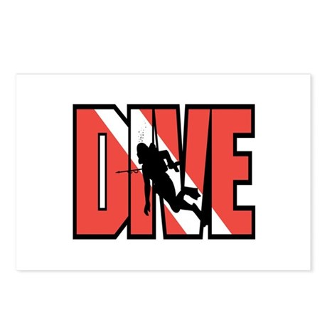 Red Dive Logo Postcards (Package of 8)