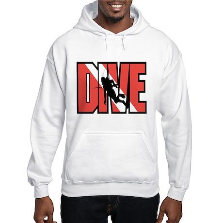 Red Dive Logo Hooded Sweatshirt