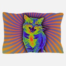 Psychedelic Kitty Pillow Case