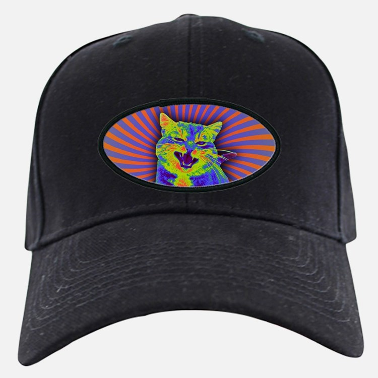 Psychedelic Kitty Baseball Hat
