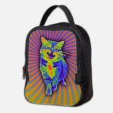Psychedelic Kitty Neoprene Lunch Bag
