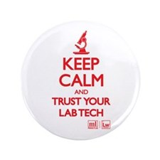 """Keep Calm Lab 3.5"""" Button (10 Pack)"""