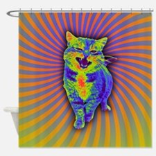 Psychedelic Kitty Shower Curtain