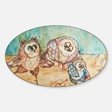 Owls on the beach Decal