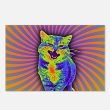 Psychedelic Kitty Postcards (Package of 8)