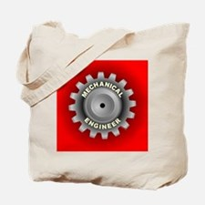Mechanical Engineer Gear Red Tote Bag