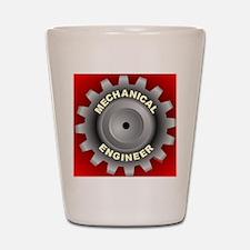 Mechanical Engineer Gear Red Shot Glass