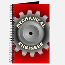 Mechanical Engineer Gear Red Journal