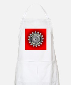 Mechanical Engineer Gear Red Apron