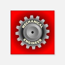 "Mechanical Engineer Gear R Square Sticker 3"" x 3"""