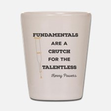 Crutch for the Talentless Shot Glass