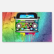 Hippie Van Dripping Rainbow Paint Decal