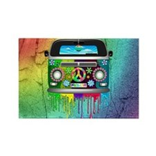 Hippie Van Dripping Rainbow Paint Magnets