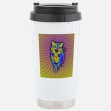 Psychedelic Kitty Stainless Steel Travel Mug
