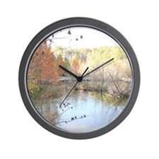 Reflections Across the Pond Wall Clock