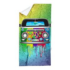 Hippie Van Dripping Rainbow Paint Beach Towel