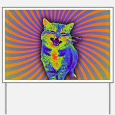 Psychedelic Kitty Yard Sign