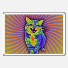 Psychedelic Kitty Banner