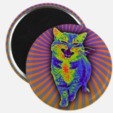 Psychedelic Kitty Magnets